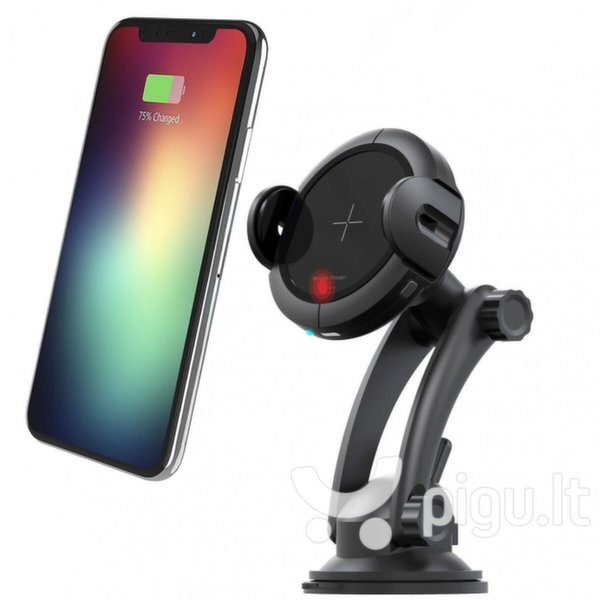 W5 Wireless Car Charger/Holder with Type-C Connector
