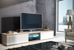 TV staliukas Hit, ąžuolo/baltos spalvos kaina ir informacija | TV staliukai | pigu.lt