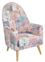 Fotelis Emilly, rožinis/baltas kaina ir informacija | Svetainės foteliai | pigu.lt
