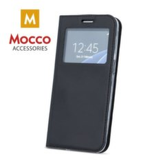 Mocco Smart Look Magnet Book Case With Window For Huawei Mate 20 Black kaina ir informacija | Telefono dėklai | pigu.lt