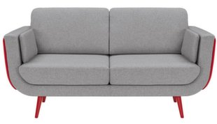 Sofa Possi Light 3S, pilka/raudona