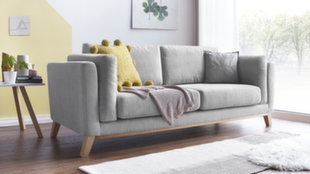 Trivietė sofa BoboChic Seattle, pilka kaina ir informacija | Sofos, foteliai ir minkšti kampai | pigu.lt