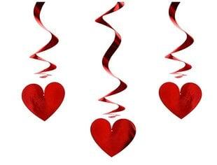 "Kabančios dekoracijos ""Raudonos širdelės"" (3 vnt.) kaina ir informacija | Dekoracijos šventėms | pigu.lt"