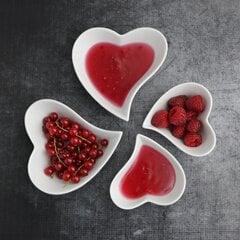 Širdelės formos indelis, keli dydžiai kaina ir informacija | Indai, lėkštės, pietų servizai | pigu.lt
