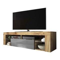 TV staliukas Hugo, rudas/pilkas kaina ir informacija | TV staliukai | pigu.lt
