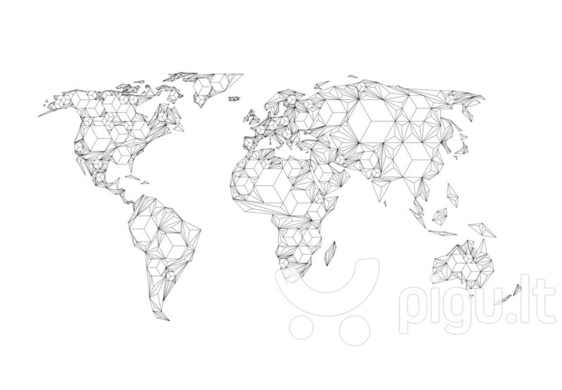 Fototapetas - Map of the World - white solids atsiliepimas