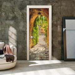 Durų fototapetas - Alley in Italy kaina ir informacija | Fototapetai | pigu.lt
