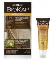 Plaukų dažai Biokap Nutricolor Nr. 10.0 Golden Extra Light Blond Dye 140 ml