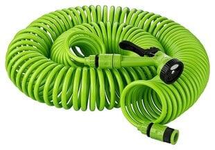 Spiralinė laistymo žarna su purkštuku Kinzo, 30 m kaina ir informacija | Laistymo įranga, purkštuvai | pigu.lt