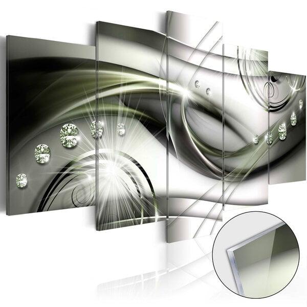 Akrilo stiklo paveikslas - The Wave of Green Glow [Glass] kaina ir informacija | Reprodukcijos, paveikslai | pigu.lt