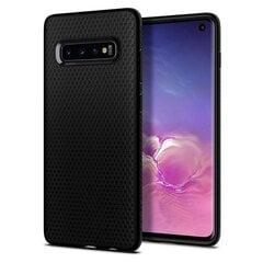 Spigen Liquid Air, skirtas Samsung Galaxy S10, juodas kaina ir informacija | Telefono dėklai | pigu.lt