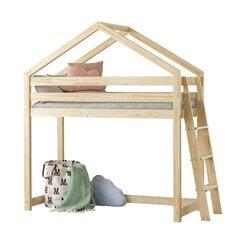 Lova-namelis Dalida su kopėčiomis, 90x200 cm, ąžuolo spalvos kaina ir informacija | Vaiko kambario baldai | pigu.lt