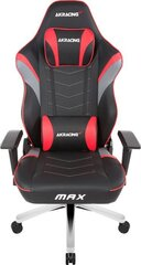 Žaidimų kėdė Akracing Master MAX, juoda/raudona kaina ir informacija | Biuro kėdės | pigu.lt