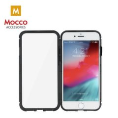 Mocco Double Side Aluminum Case 360 With Tempered Glass For Apple iPhone 6 Plus / 6S Plus Transparent - Black kaina ir informacija | Telefono dėklai | pigu.lt