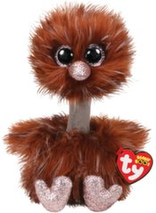 Pliušinis žaislas TY Beanie Boos ORSON rudas strutis, 15 cm, 36283
