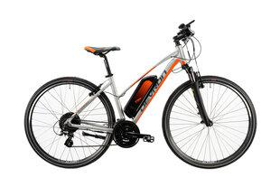 Elektrinis kroso dviratis Devron 28162-495 28'', sidabro spalvos kaina ir informacija | Elektrinis kroso dviratis Devron 28162-495 28'', sidabro spalvos | pigu.lt