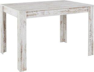 Valgomojo stalas Notio Living Lori 120 cm, senovinis baltas