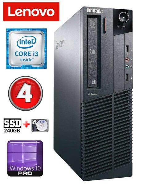 Lenovo ThinkCentre M82 SFF i3-3220 4GB 240SSD+2TB DVD WIN10Pro