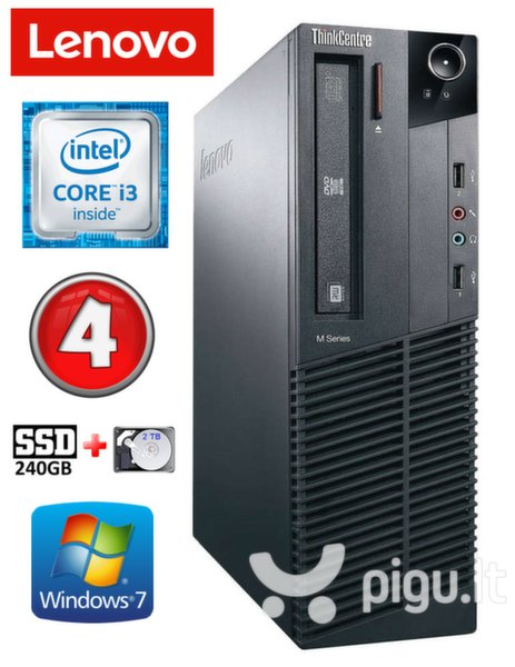 Lenovo ThinkCentre M82 SFF i3-3220 4GB 240SSD+2TB DVD WIN7Pro