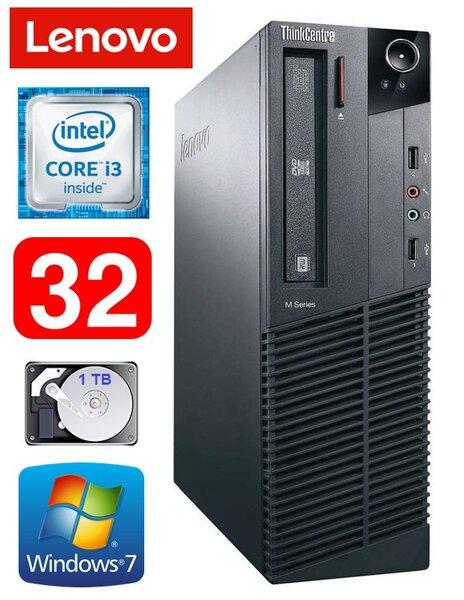 Lenovo ThinkCentre M82 SFF i3-3220 32GB 1TB DVD WIN7Pro