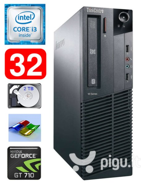 Lenovo ThinkCentre M82 SFF i3-3220 32GB 2TB GT710 2GB DVD WIN7Pro