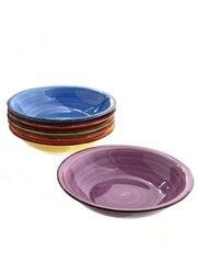 HTI keramikinių sriubos lėkščių komplektas Rainbow, 6 vnt. kaina ir informacija | Indai, lėkštės, pietų servizai | pigu.lt