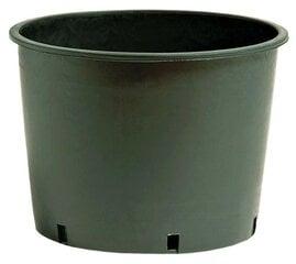 Vazonas, juodas NICOLI Vivaio Basso, 22 x 17 cm - 5,5 L