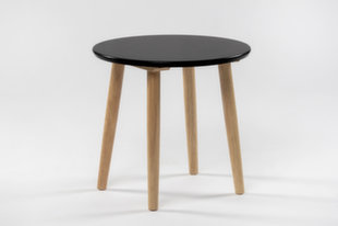 Stalas Veneto, juodas/rudas kaina ir informacija | Virtuvės ir valgomojo stalai, staliukai | pigu.lt