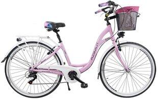 """Prekė su pažeista pakuote. Moteriškas miesto dviratis Azimut Sarema ALU 28"""" TX 6-speed 2019, rožinis"""
