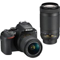 Nikon D5600 + AF-P DX 18-55 VR + AF-P DX 70-300 VR kaina ir informacija | Skaitmeniniai fotoaparatai | pigu.lt