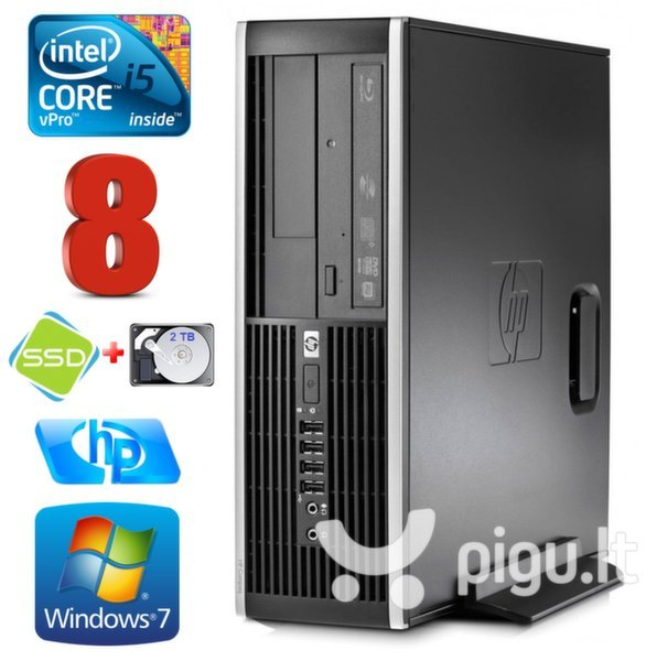HP 8100 Elite SFF i5-650 8GB 120SSD+2TB DVD WIN7Pro