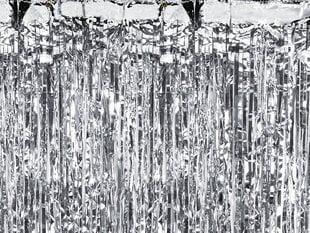 Juostelių dekoracija Lietutis, sidabrinė, 90 x 250 cm kaina ir informacija | Dekoracijos šventėms | pigu.lt