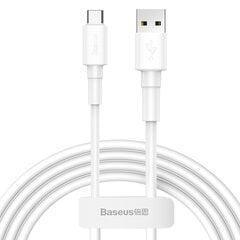 USB kabelis Baseus Mini USB to Type-C 3A 1m baltas CATSW-02 kaina ir informacija | Laidai telefonams | pigu.lt
