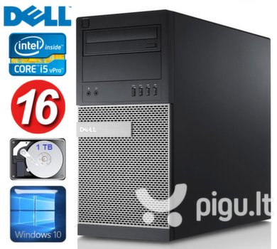 DELL 790 MT i5-2400 16GB 1TB DVD WIN10 kaina ir informacija | Stacionarūs kompiuteriai | pigu.lt