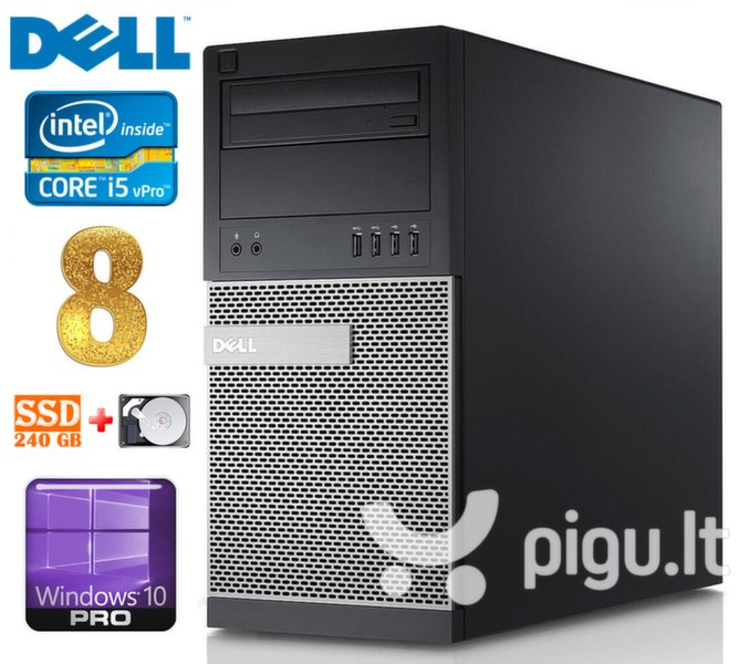 DELL 790 MT i5-2400 8GB 240SSD+250GB DVD WIN10Pro