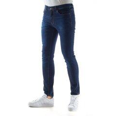 Siaurėjantys trinti džinsai