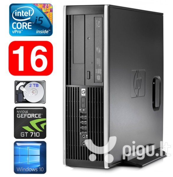 HP 8100 Elite SFF i5-650 16GB 2TB GT710 2GB DVD WIN10 kaina ir informacija | Stacionarūs kompiuteriai | pigu.lt