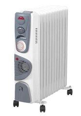 Prekė su pažeista pakuote. Tepalinis radiatorius Volteno VO0275 su ventiliatorium ir laikmačiu, 11 sekcijų