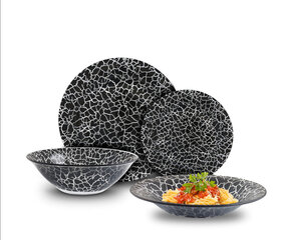 Cok pietų servizas Black Rock, 19 dalių kaina ir informacija | Indai, lėkštės, pietų servizai | pigu.lt