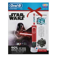 Braun Oral-B Kids Star Wars D100 su kelioniniu dėklu kaina ir informacija | Elektriniai dantų šepetėliai | pigu.lt