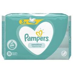 Servetėlės PAMPERS Sensitive, 3x52 vnt. kaina ir informacija | Drėgnos servetėlės, paklotai | pigu.lt