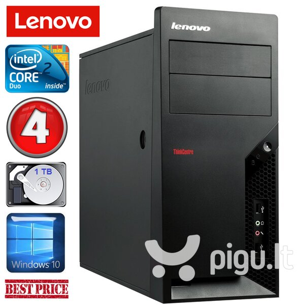 Lenovo M58e MT E7500 4GB 1TB Win10
