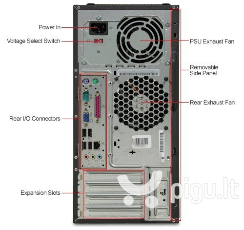 Lenovo M58e MT E7500 4GB 240SSD Win10 kaina