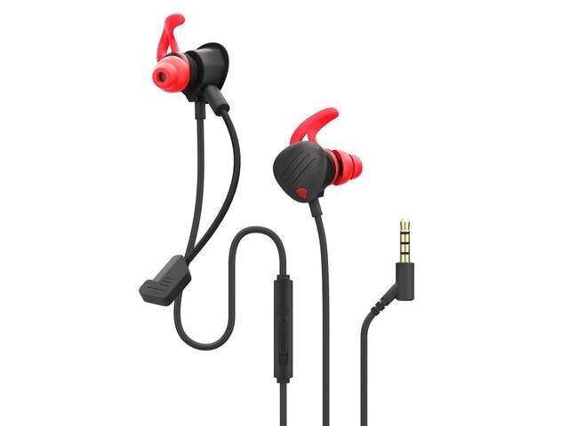 Ausinės Genesis NSG-1510, juodos/raudonos spalvos