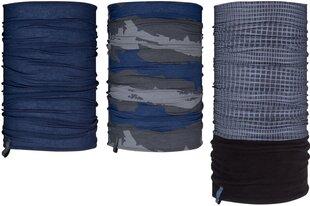 Avento vyriškas šalikas Active, 3 vnt., dark blue/anthracite/grey kaina ir informacija | Aksesuarai vyrams | pigu.lt