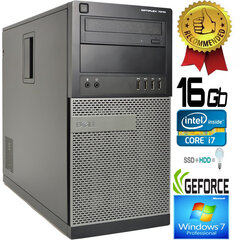 Dell Optiplex 7010 Core i7-3770 16GB 240SSD + 1TB HDD GTX1050ti 4GB Windows 7 Professional kaina ir informacija | Dell Optiplex 7010 Core i7-3770 16GB 240SSD + 1TB HDD GTX1050ti 4GB Windows 7 Professional | pigu.lt