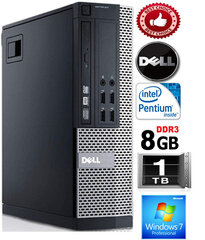 Dell Optiplex 790 G620 8GB 1TB HDD Windows 7 Professional kaina ir informacija | Dell Optiplex 790 G620 8GB 1TB HDD Windows 7 Professional | pigu.lt