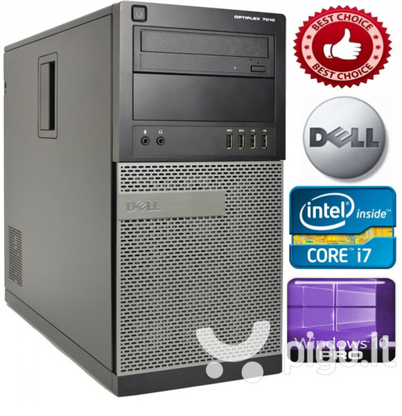 DELL Optiplex 3010 Core i7-3770 8GB 1TB HDD DVDRW Windows 10 Professional