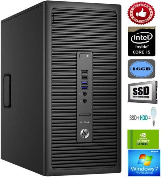 HP ProDesk 600 G2 i5-6600 16GB 128GB SSD 500GB HDD Windows 7 Professional kaina ir informacija | Stacionarūs kompiuteriai | pigu.lt