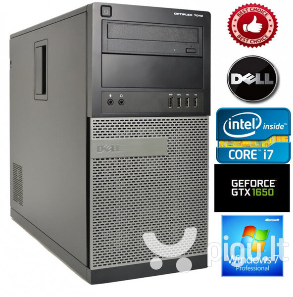 Dell Optiplex 7010 Intel Core i7-3770 16GB 120SSD + 1TB HDD GTX1650 4GB Windows 7 Professional